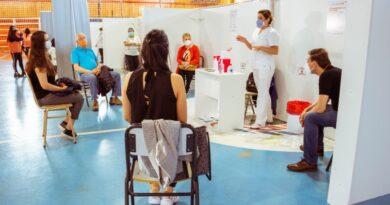 ampl comenzo funcionar centro vacunacio contra covid gimnasio muriel 41161
